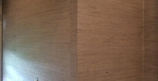 Bathroom Wallpaper-Grasscloth